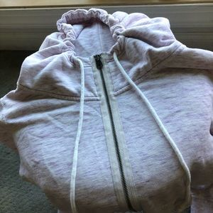 American eagle purple and white zip up